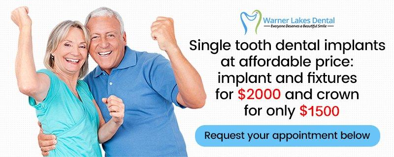 Warner Lakes Dental | Implants Specials Banner v2