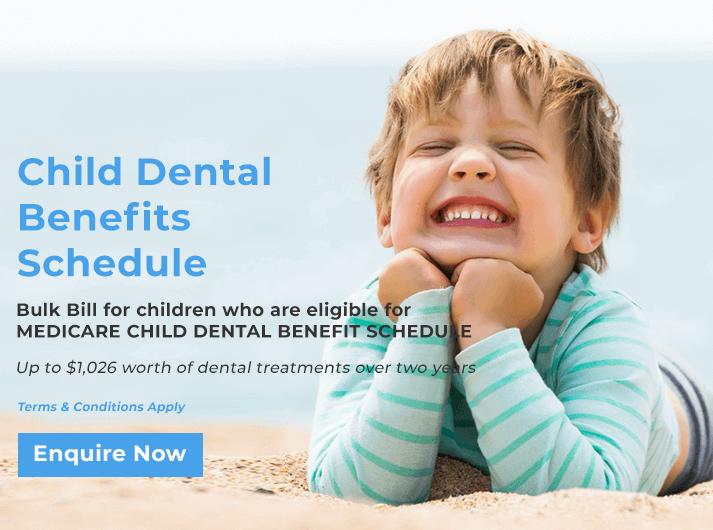 child dental benefit schedule promo banner warner