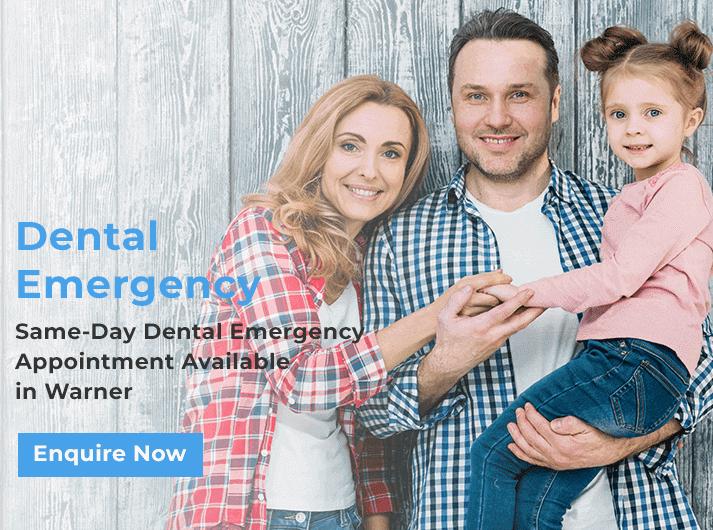 dental emergency promo banner warner
